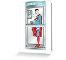 Superman in problem Greeting Card
