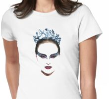 Black Swan face Womens Fitted T-Shirt