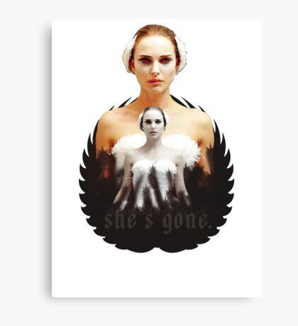 Black Swan sweet girl Canvas Print