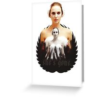 Black Swan sweet girl Greeting Card