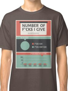 Number of F*cks I Give Classic T-Shirt