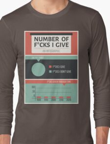 Number of F*cks I Give Long Sleeve T-Shirt