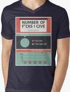 Number of F*cks I Give Mens V-Neck T-Shirt