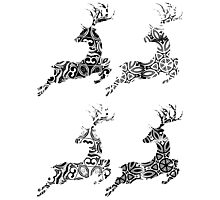 Cartoon Ornamental Deer 2 Photographic Print