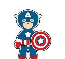 Cute Captain America by mydeardear