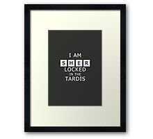 Sherlocked in the Tardis Slate Framed Print
