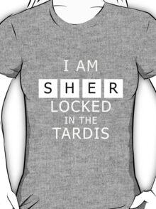 Sherlocked in the Tardis Slate T-Shirt