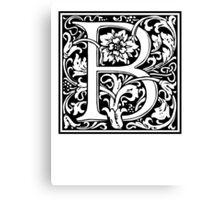 Decorative Letter B Canvas Print