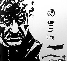 The Third Doctor Who (Jon Pertwee) by Clare Shailes