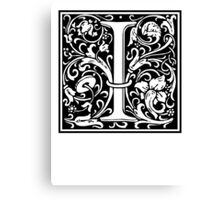 Decorative Letter I Canvas Print