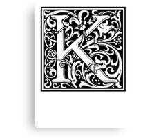 Decorative Letter K Canvas Print