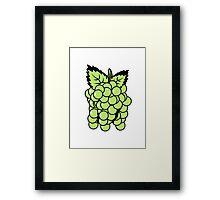 Grapes fruit sweet fruit Framed Print