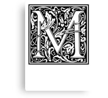 Decorative Letter M Canvas Print