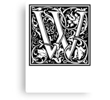 Decorative Letter W Canvas Print