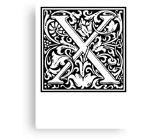 Decorative Letter X Canvas Print