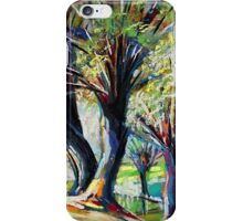Willows on the river bank iPhone Case/Skin