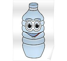 Water Bottle Cartoon Poster