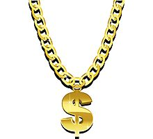 Gold Chain Photographic Print