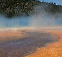 Midway Geyser Basin at Yellowstone by Spencer Dickson