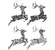 Cartoon Ornamental Deer 3 Photographic Print