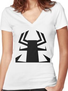 Master Aku Women's Fitted V-Neck T-Shirt