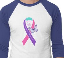 Thyroid Cancer Awareness Ribbon (Rach) Men's Baseball ¾ T-Shirt