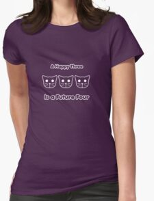Meow Moew Beenz Womens Fitted T-Shirt