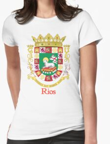 Rios Shield of Puerto Rico Womens Fitted T-Shirt