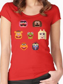 8-Bit Muppets Women's Fitted Scoop T-Shirt