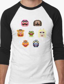 8-Bit Muppets Men's Baseball ¾ T-Shirt