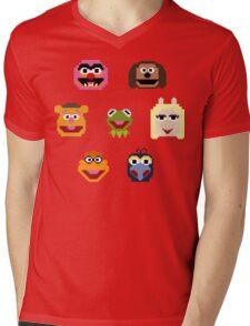 8-Bit Muppets Mens V-Neck T-Shirt