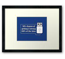 Against All Odds Framed Print