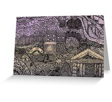 Map - Fantasy - Two Portals Greeting Card
