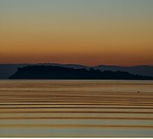 Isola Maggiore on a golden lake. Lago Trasimeno, Umbria, Italy by Andrew Jones