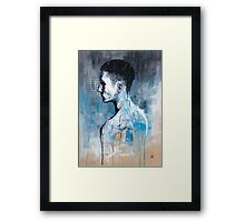 BEHIND HIM Framed Print