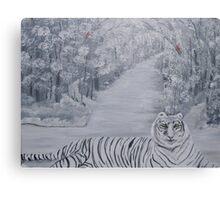 Winters Tiger Canvas Print