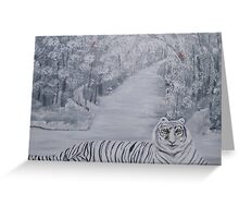 Winters Tiger Greeting Card