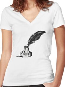 Inkwell  Women's Fitted V-Neck T-Shirt