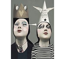The Girls With Hats Photographic Print