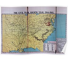 Civil War Maps 1113 McConnell's Historical maps of the United States 04 Poster