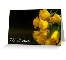 Flowers to say thank you! Greeting Card