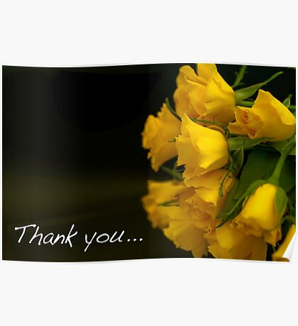 Flowers to say thank you! Poster