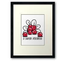 Cranberry Fruit organic fruit Framed Print