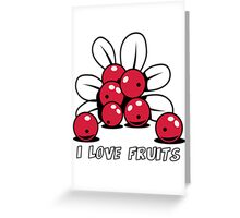 Cranberry Fruit organic fruit Greeting Card