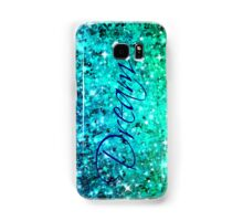 DREAM Colorful Blue Green Typography Ocean Ombre Fine Art Abstract Painting Samsung Galaxy Case/Skin