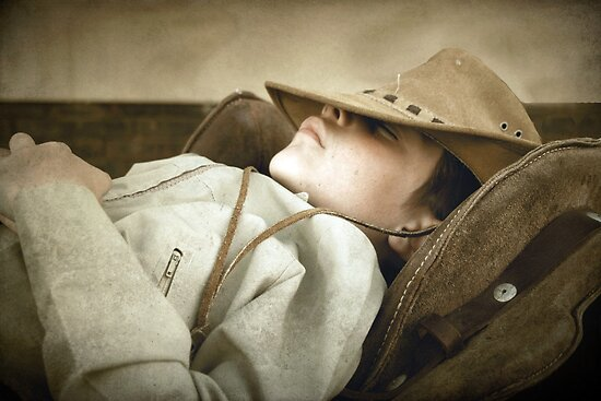 Sleeping cowboy... Free State, South Africa by Qnita
