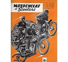 Vintage French Motorcycle Magazine  Photographic Print