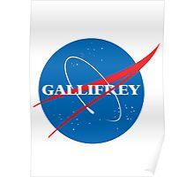 Gallifrey (Blue) Poster