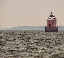 Little Red Lighthouse by Dennis  of Legend Photography