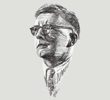 Shostakovich drawing in black and white by fortissimotees